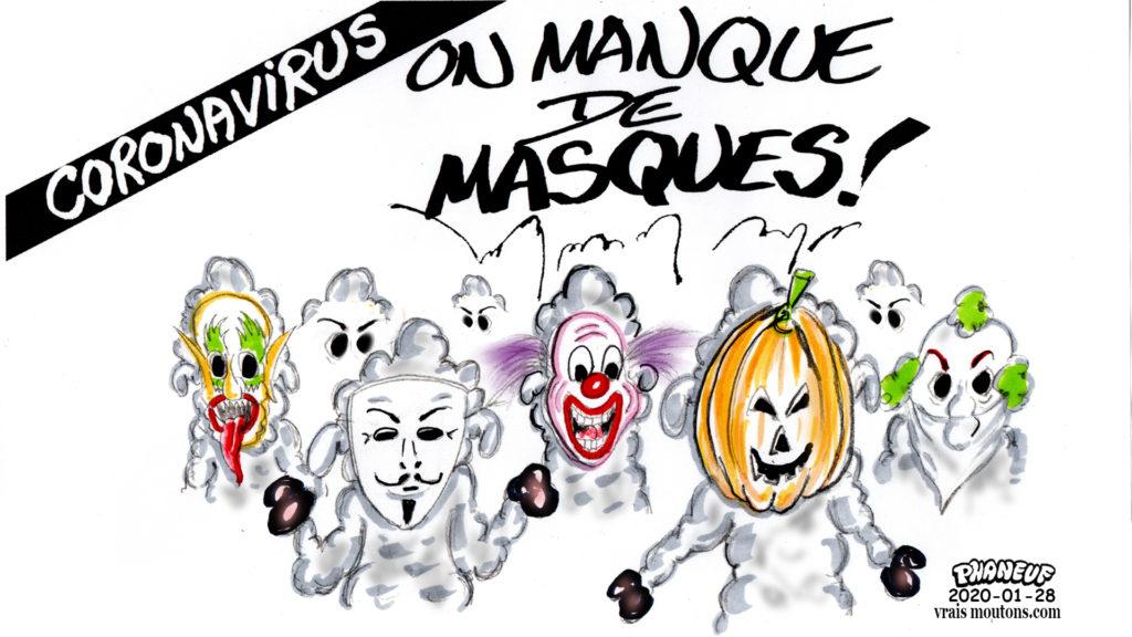 2020-01-28 MANQUE de MASQUES – Vrais Moutons – Jean-Marc Phaneuf
